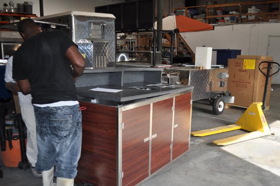 concession cart construction