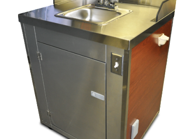 concession cart sink-front