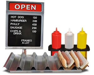 hot-dog-cart-counter-display