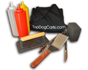 hot dog cart cooking accessories