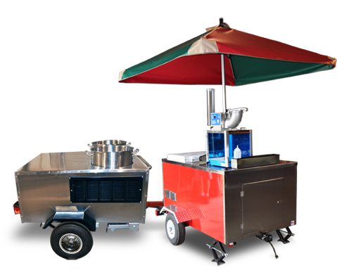sno-cone and boiled peanut carts