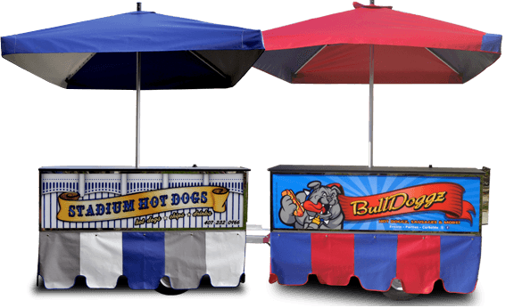 hot dog cart signs, custom graphics