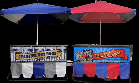 hot dog cart signs, custom graphics