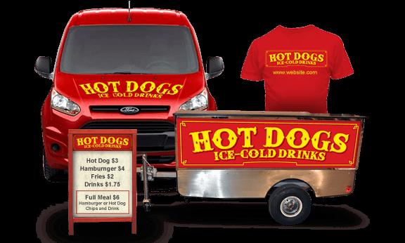 hot dog cart promotional items