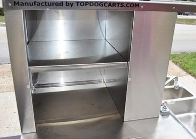 Vendor Cart Storage area