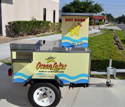 hot dog cart graphics