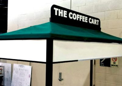 Coffee Cart Canopy - After