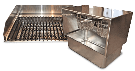 mobile food cart fryer and char-broil grill