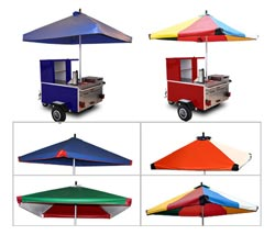 custom hot dog cart umbrellas