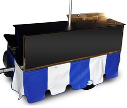 mobile food cart skirt